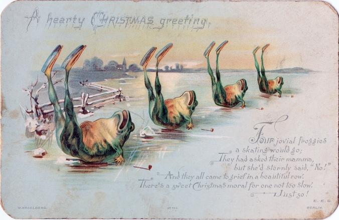 christmas froggies