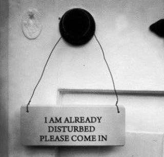 disturbed sign