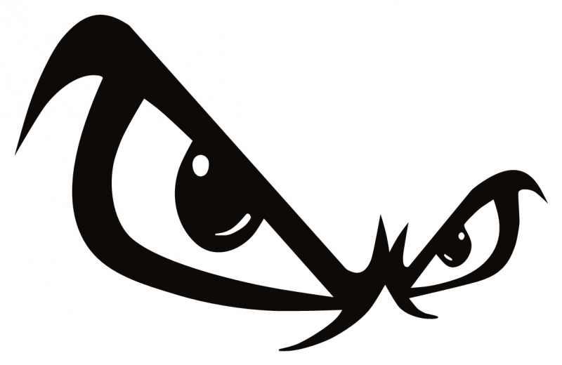 Enduring Clip Art : The legend of hairy eyeball my enduring bones