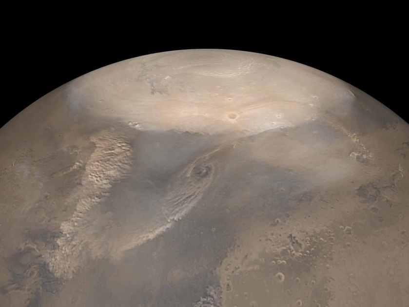 extreme weather mars poles