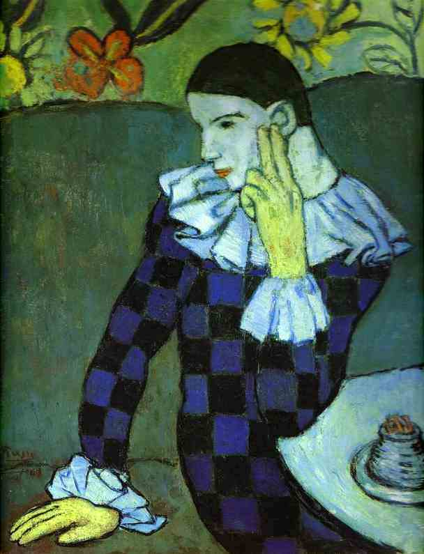 """Pablo Picasso - """"Absinthe Drinker"""