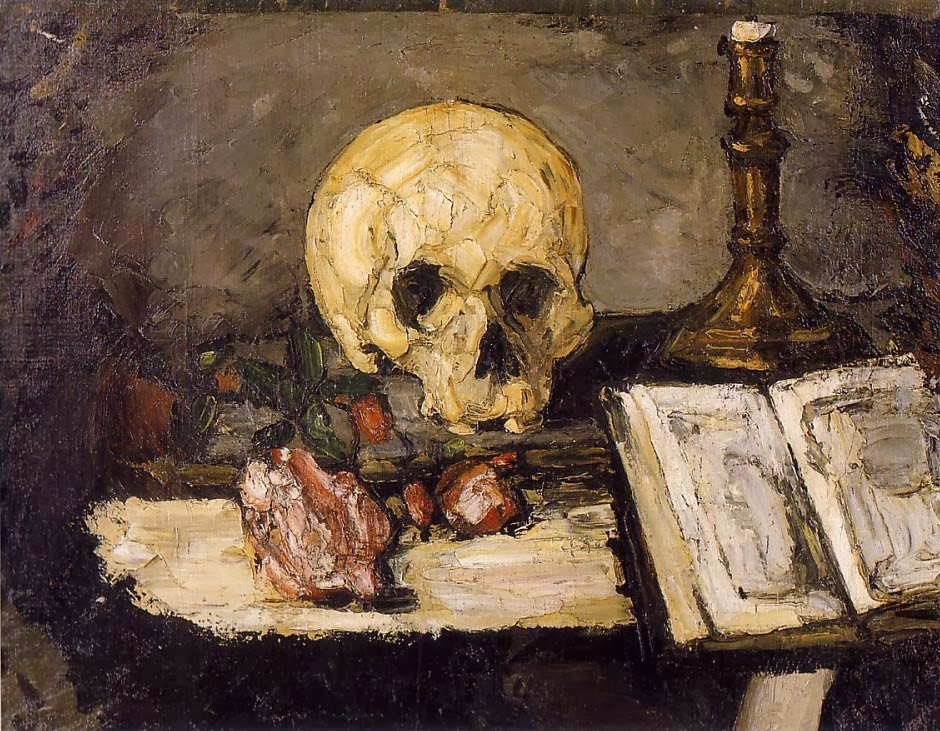 1866c Still Life with Skull and Candlestick oil on canvas 47_5 x 62_5 cm Private Collection