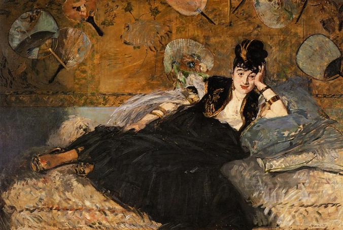 The Lady with Fans-Edouard Manet