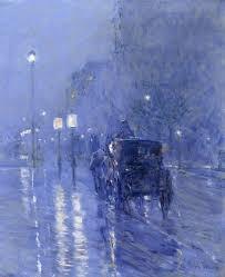""""""" Rainy Night"""" Childe Hassam"""