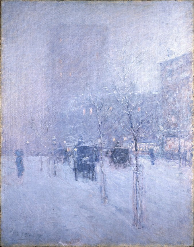 Late Afternoon Winter by Childe Hassam