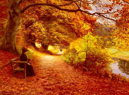 hans-anderson-brendekilde-a-wooded-path-in-autumn