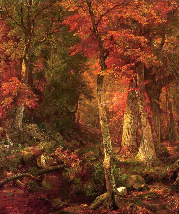 william-trost-richards-forest-interior-in-autumn