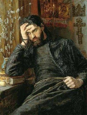""" The TIred Priest "" Konstantin Savitskiy"